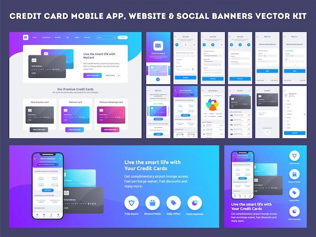 Interfaccia utente dell'app per dispositivi mobili. Vettore Premium