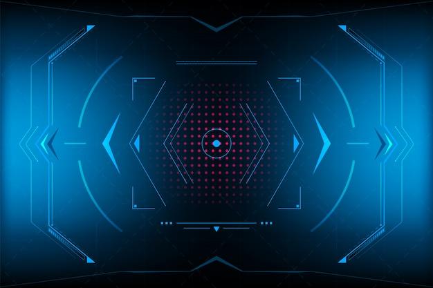 Interfaccia utente vr pannello hud Vettore Premium