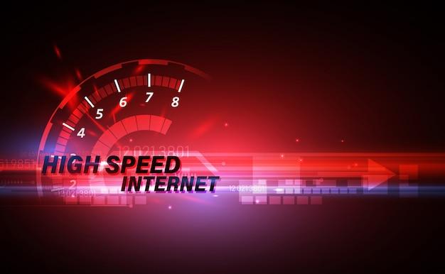 Internet ad alta velocità sulle telecomunicazioni di rete Vettore Premium