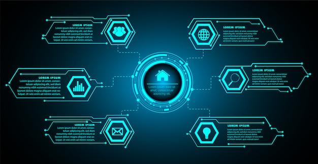Internet delle cose cyber circuit technology Vettore Premium