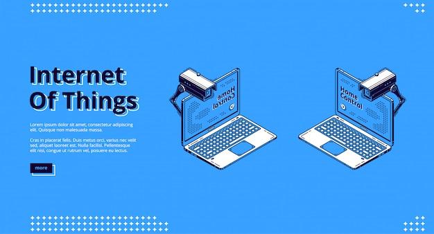 Internet delle cose web isometrico Vettore gratuito