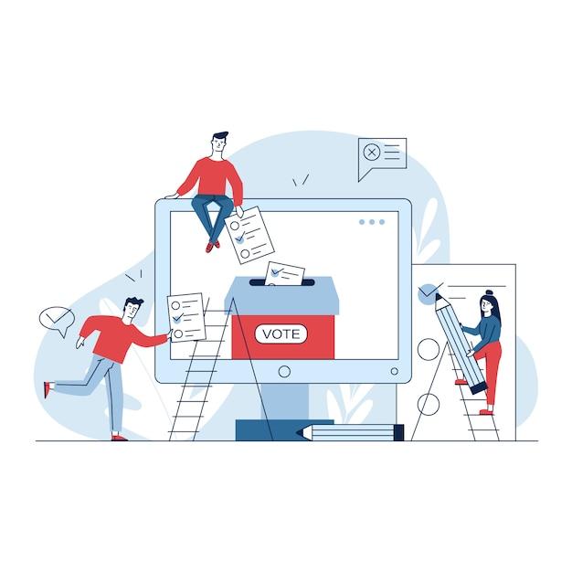 Internet o votazione elettronica Vettore gratuito