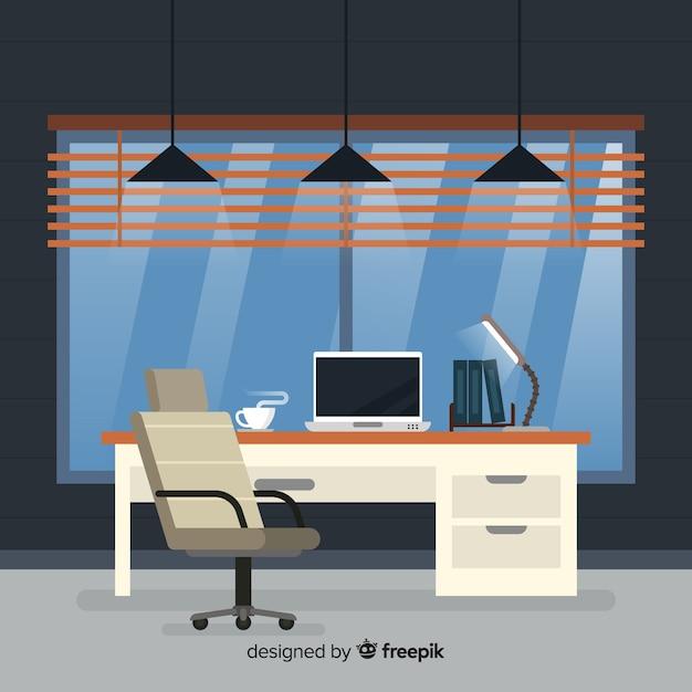 Interni eleganti per ufficio con design piatto | Vettore ...