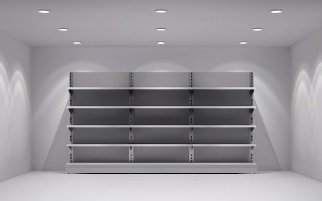 Interno realistico 3d del deposito Vettore gratuito