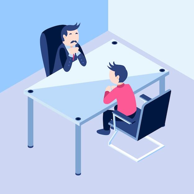 Intervista di lavoro Vettore Premium