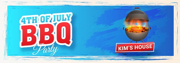 Intestazione del sito web o design del banner Vettore Premium