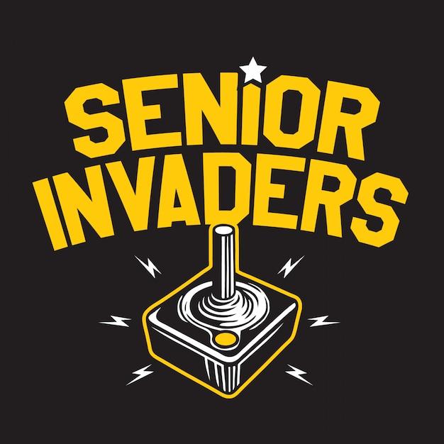 Invasori anziani Vettore Premium