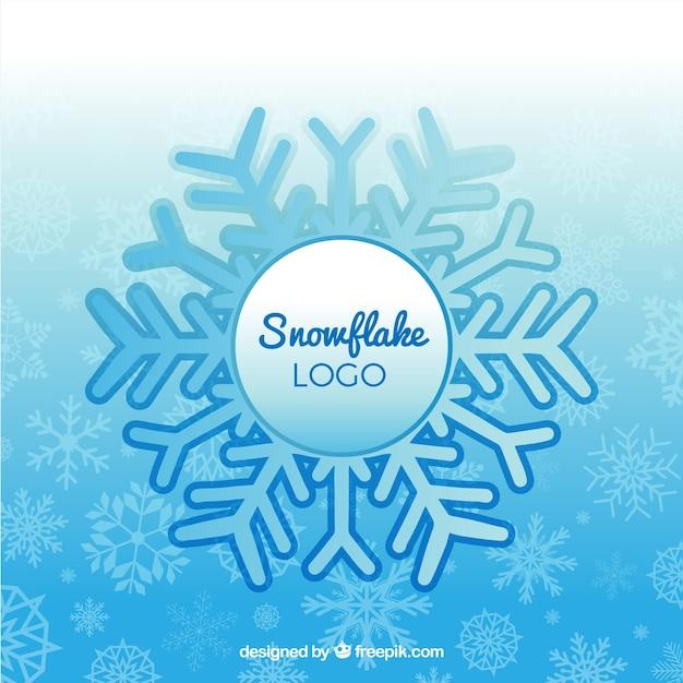 Inverno fiocco di neve logo Vettore gratuito