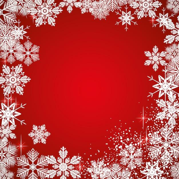 Inverno sfondo innevato Vettore Premium