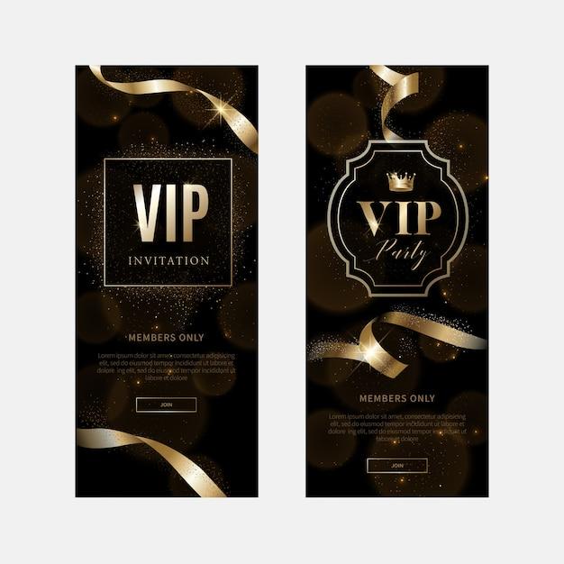 Inviti vip di lusso e sfondi coupon Vettore Premium