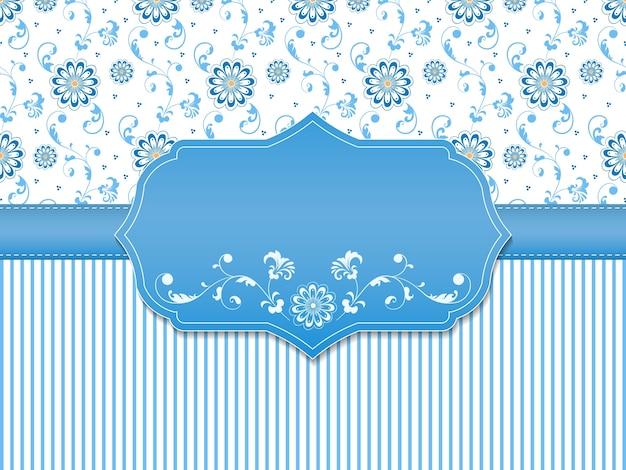 Invito a nozze e carta di annuncio con materiale illustrativo floreale della priorità bassa Vettore gratuito