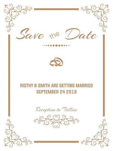 Invito a nozze lussuoso Vettore Premium