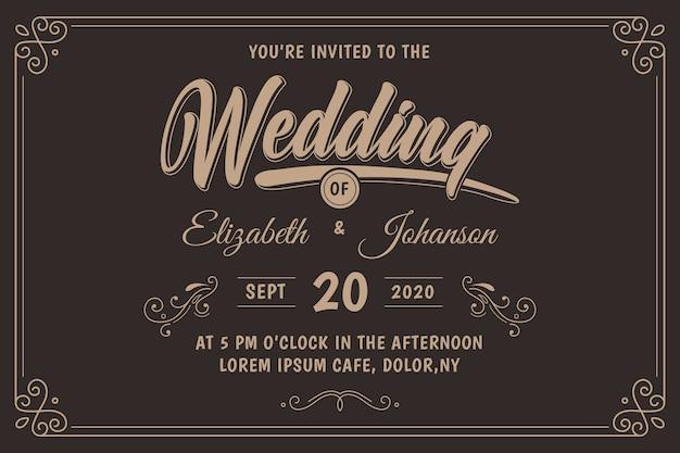 Invito a nozze retrò Vettore gratuito