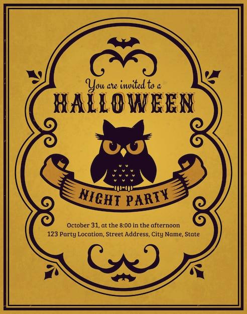 Invito a una festa di halloween Vettore Premium