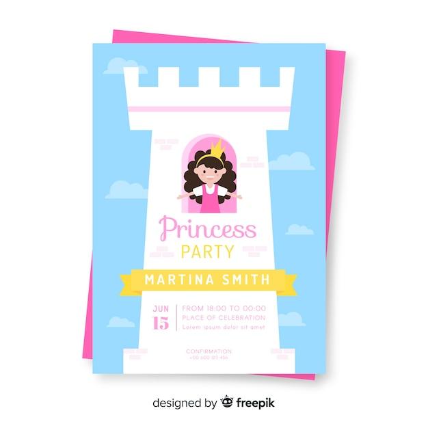 Invito a una festa principessa Vettore gratuito