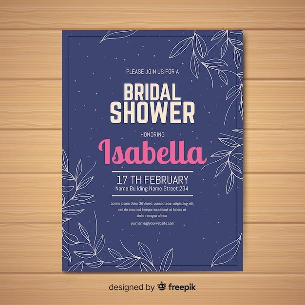 Invito alla doccia nuziale Vettore gratuito