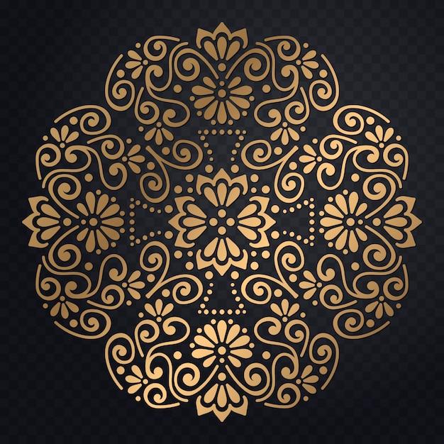 Invito di nozze di lusso vettoriale con mandala Vettore gratuito