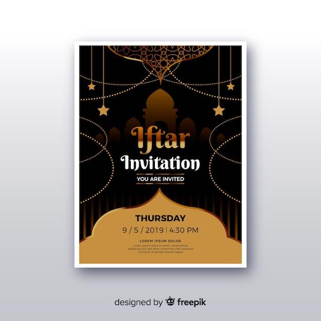 Invito iftar realistico Vettore gratuito