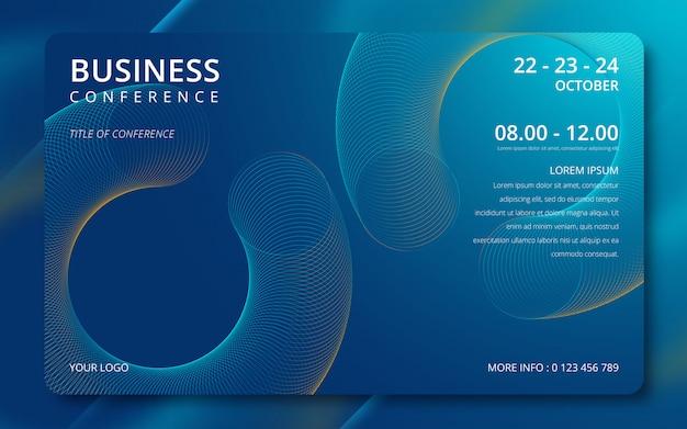 Invito semplice modello di conferenza d'affari. Vettore Premium