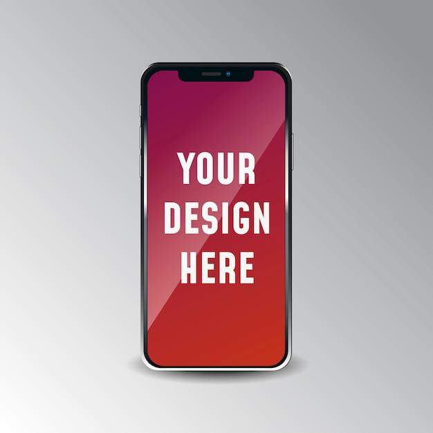 Iphone Realistico X Mock Up Su Sfondo Bianco Scaricare Vettori