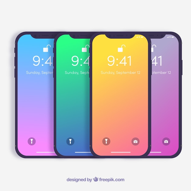 Iphone X Con Sfondo Sfumato Scaricare Vettori Gratis