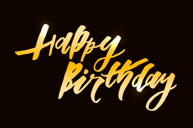 Iscrizione con frase buon compleanno. Vettore Premium