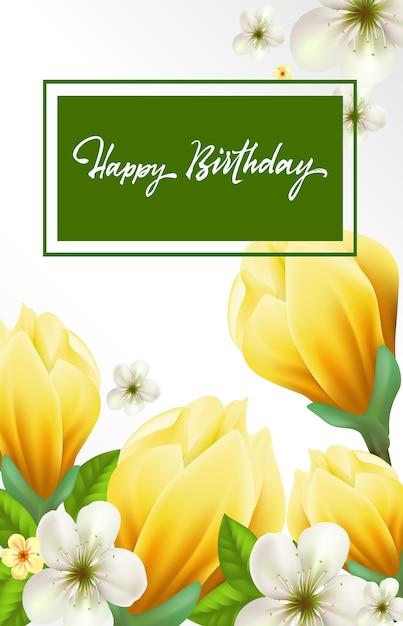Iscrizione Di Buon Compleanno Scaricare Vettori Gratis