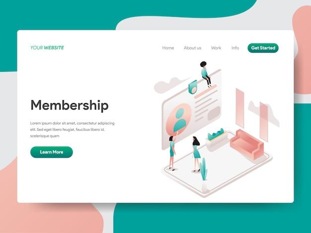 Iscrizione per pagina web Vettore Premium