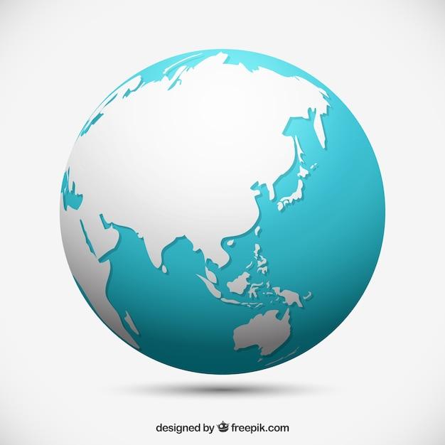 Isolato globo terrestre Vettore gratuito