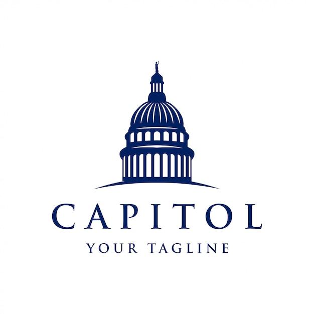 Ispirazione del design del logo capitol dome Vettore Premium