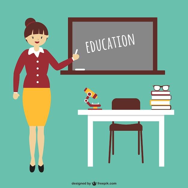 Istruzione cartone animato con l insegnante scaricare