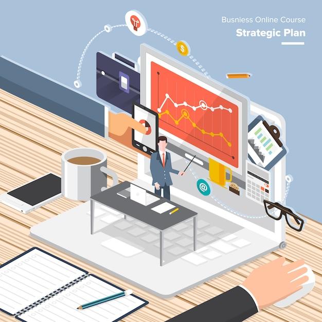 Istruzione isometrica design Vettore Premium