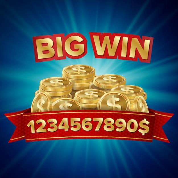 Jackpot vector. sfondo casinò per fortuna, denaro, jackpot, illustrazione lotteria gioco Vettore Premium