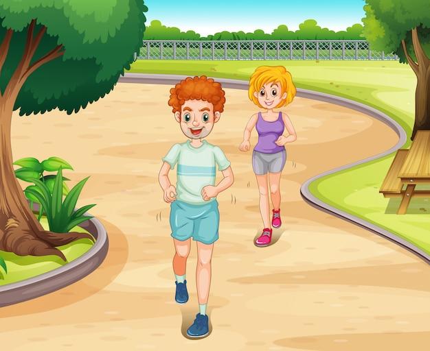 Jogging Vettore gratuito