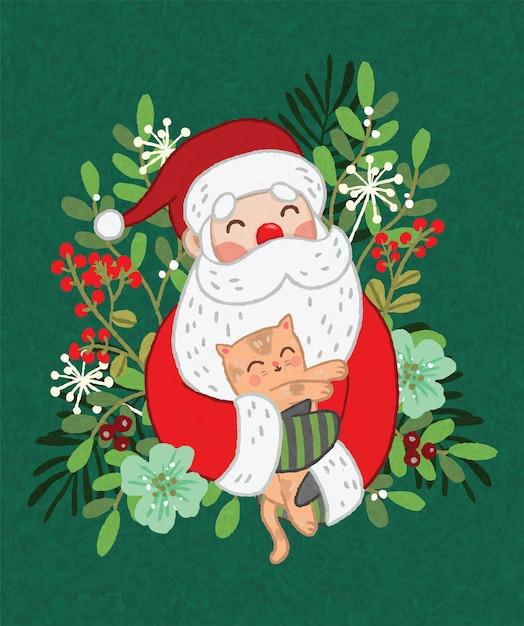 Jolly santa clause Vettore Premium