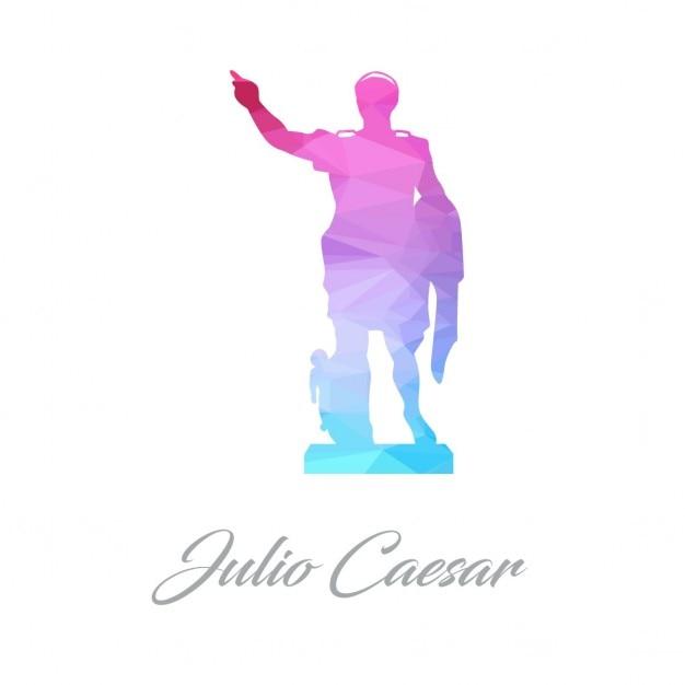 Julio casar poligonale Vettore gratuito