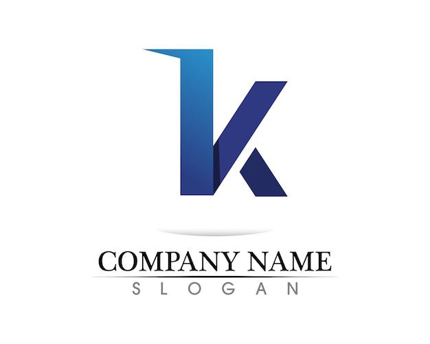 K logo design e vettore di k Vettore Premium