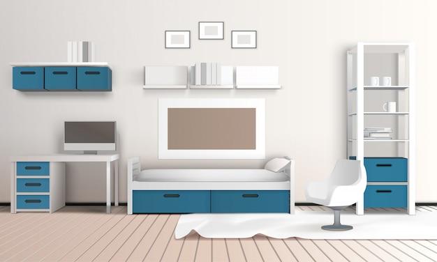 Keeping room apartment composition Vettore gratuito