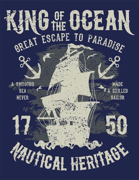 King of the ocean Vettore Premium