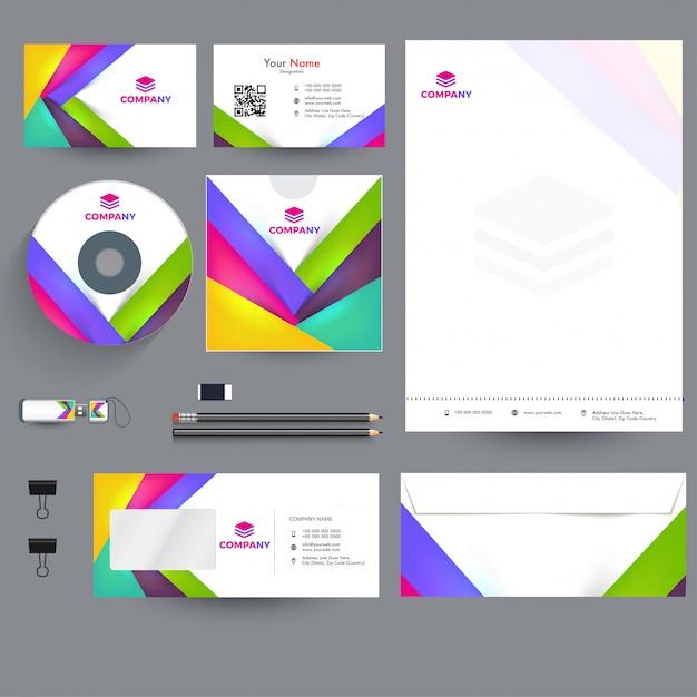 Kit di branding aziendale professionale, compreso il capo della lettera Vettore Premium