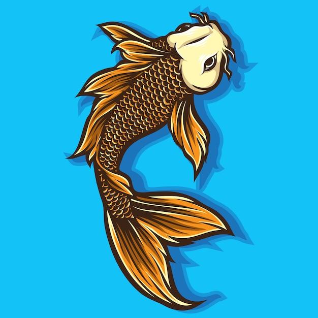 Koi fish vector Vettore Premium