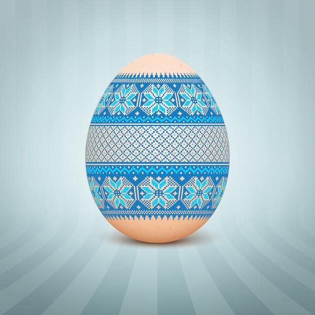 L 39 uovo di pasqua con un ornamento modello folk ucraino - Modello di uovo stampabile gratuito ...