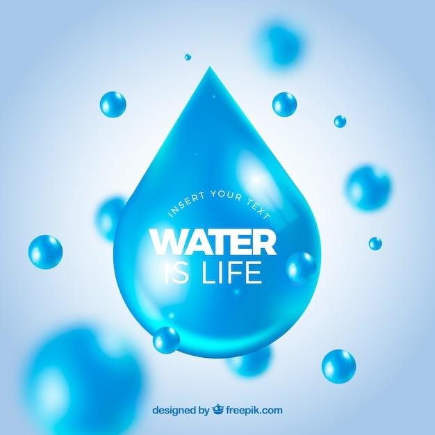 L'acqua cade la priorità bassa nello stile realistico Vettore gratuito