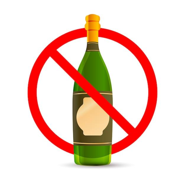 L'alcol non è permesso Vettore Premium
