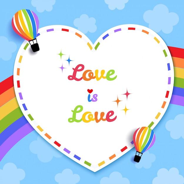 L'amore è carta d'amore Vettore Premium