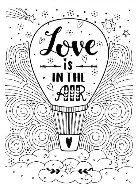 L'amore è nell'aria Vettore Premium