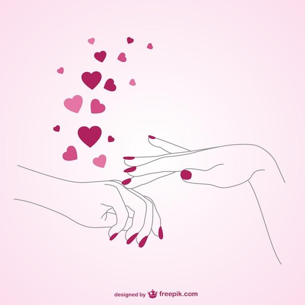 L'amore manicure vettore Vettore gratuito