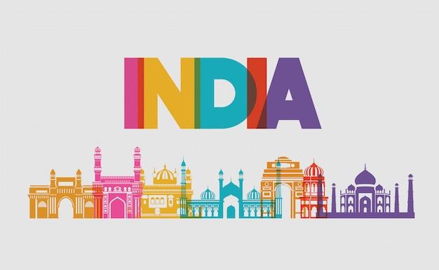 L'architettura indiana dei templi Vettore gratuito