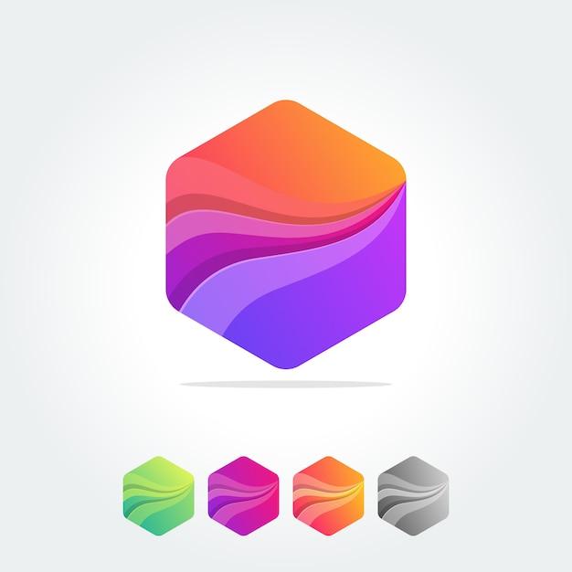 L'elemento astratto di poligono disegna composizioni geometriche Vettore Premium
