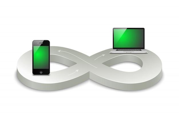 L'era digitale Vettore gratuito